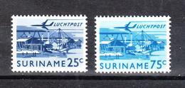 Surinam  - 1965. Industria Del Legno. The Two Stamps Of Ordinary Series. Wood Industry. MNH - Fabbriche E Imprese