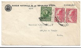 (C03) - HAITI - Y&T 263+254 X2 - SCOTT 321+316 X2 - COVER GONAIVES => FRANCE 1931 - Haïti