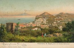Capri  Panorama Preso Dal Castello Barbarossa  Art Card   Edit Ragozino  Edit Stengel Dresden - Altre Città
