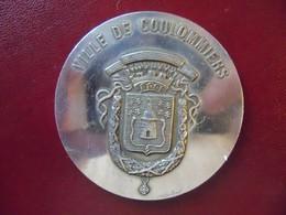 Ancienne Médaille De Table Bronze Ville De COULOMMIERS 1973 - Touristiques