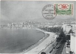 FDC13 - FRANCE N° 1244 Sur Carte Maximum Etats Généraux Cannes 1960 - Cartes-Maximum