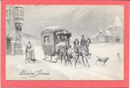 Belle DILIGENCE Avec Animation  - Illustration P.T.L ART DE. VIENNE 223 - Cartes Postales