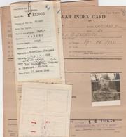 Index Card - Prigionieri Di Guerra - Documenti
