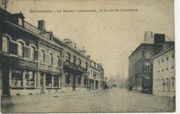 BELGIUM - HAINAULT - PATURAGES - LA MAISON COMMUNALE ET LA RUE DU COMMERCE 1919 - België