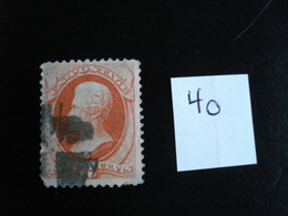 USA - Années 1870-82 - A. Jackson 2c Brun - Y.T. 40 - Oblit. - Used - Gestempeld - Used Stamps