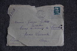 Timbre Seul Sur Lettre ( Fragment) De POITIERS Vers ORAN, MERCIER LACOMBE ( ALGERIE ) -  N°713 - France