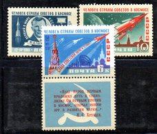 XP4141 - RUSSIA URSS 1961 , Unificato Serie    N.  2401/2403  ***  MNH  Spazio  Gagarin - Unused Stamps