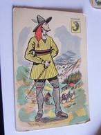 Illustrateur Autre Dauphine Societe Des Cartes Folkloriques De France - Andere Illustrators