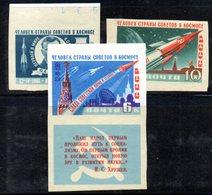 XP4142 - RUSSIA URSS 1961 , Unificato Serie    N.  2401/2403 NON Dentellata  ***  MNH  Spazio  Gagarin - Unused Stamps