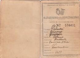 Carta Di Riconoscimento - MVSN Servizio Di Gendarmeria Italia Fascista - Documenti