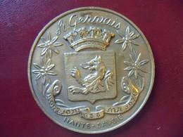 Ancienne Médaille De Table Bronze Ville De SAINT GERVAIS Signée COUTRE - Touristiques