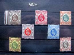 Hongkong 1903-1904 Selection Of 7 MNH Stamps - Chine