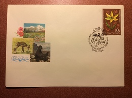 Stationery USSR Special Cancellation Postal Cover 1974 Premier Jour. Flora Of USSR. Walrus. Fur Seal. By Ryakhovsky - 1923-1991 USSR