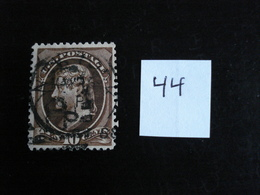 USA - Années 1870-82 - T. Jefferson 10c Brun - Y.T. 44 - Oblit. - Used - Gestempeld - 1847-99 Unionsausgaben