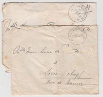 Lot 2 Lettres Franchises Militaires 1938 - Belgique
