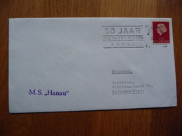 (us) Schiffpost Shipmail M.S HANAU 1967 NEDERLAND. - Barche