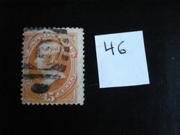 USA - Années 1870-82 - Daniel Webster 15c Orange - Y.T. 46 - Oblit. - Used - Gestempeld - Used Stamps