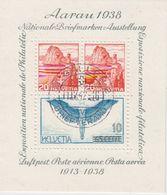 Switzerland 1938 Aarau M/s  Used (42177)  Ca St. Gallen 11 IV 42 - Blokken