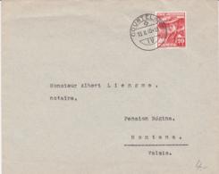 Pro Juventute No J 91 Oblitéré Courtelary Le 13.II.1940, à Destination De Montana - Covers & Documents