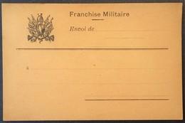 Carte De Franchise Militaire Illustrée Cuirasse Casque De Dragon - Marcophilie (Lettres)