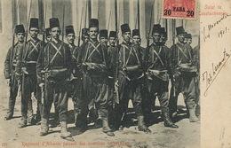 Regiment Albanie à Constantinople German Post  From Galata To  Romania 1903 - Albanie