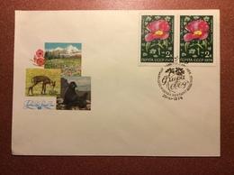 Old USSR Special Cancellation Postal Cover 1974 2 Mail Stamp. Premier Jour. Flora Of USSR. Walrus. Fur Seal. Ryakhovsky - 1923-1991 USSR