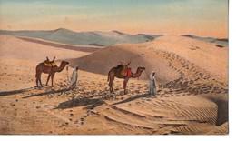 CPA, ALGERIE, Dunes De Sable Au Sahara, Jamais Voyagée, Verso Sale - Algérie