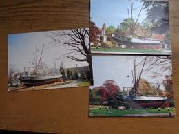 3 Kaarten Van Boekhoute, Vissersboot BOU 8 Isabella --> 2 Onbeschreven + 1 Beschreven - Assenede