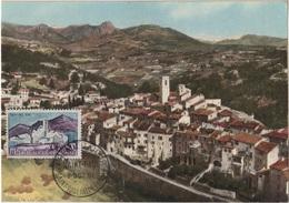 FDC20 - FRANCE N° 1331 Sur Carte Maximum St-Paul De Vence 1961 - Cartes-Maximum