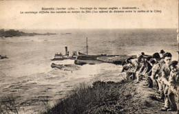 D64  BIARRITZ  Naufrage Du Vapeur Anglais Knebworth - Biarritz