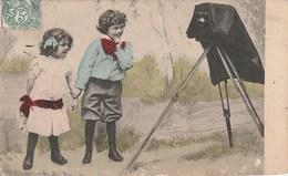 ENFANT PETITE FILLE GARCON APPRENTI PHOTOGRAPHE - Cartes Humoristiques
