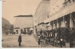 C.P. -   NICE - PLACE MASSENA - TERRASSE DU GRAND CAFÉ PONTE - EN 1900 - EUREDIS - REPRODUCTION - Mercadillos