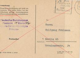 Benachrichtigung über Beschädigtes Paket Berlin Postleitzahl Postsache - Briefe U. Dokumente