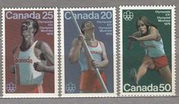 CANADA 1975 Olympic Games Montreal MNH(**) Mi 597-599 #23959 - 1952-.... Règne D'Elizabeth II
