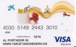 TARJETA MONEDERO VISA LA CAIXA 30EUROS - Tarjetas Telefónicas