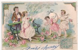 Cpa Fantaisie Gaufrée Joyeuses Paques - Pâques