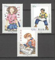 ARUBA, 2005, Children & Philately 3v   MNH - Curazao, Antillas Holandesas, Aruba