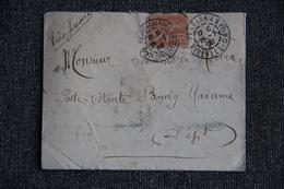 Timbre Seul Sur Lettre De PERPIGNAN (66) Vers BOURG MADAME( 66), Poste Restante -  N° 117 . - 1877-1920: Semi Modern Period