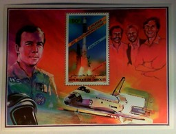 DJIBOUTI Issued: Oct. 2, 1985.: Patrick Baudry And STS-51G. - Space