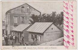 OTTAIANO, Eruzione Vesuvio 1906, Baracche Posta E Municipio Coperte Con Ruberoid  - F.p. - Anni '1900 - Napoli