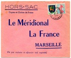 DROME - Dépt N° 26 = LIVRON 1964 = Cachet  MANUEL A8 + HORS-SAC  LE MERIDIONAL - Manual Postmarks