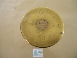 Douille Obus Belge De 47 Mm Antichar Daté 39 (neutralisé) A - Equipement