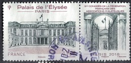 France 2018 Oblitéré Rond Used 91ème Congrès De La FFAP Paris Palais De L'Élysée Y&T 5221 SU - France
