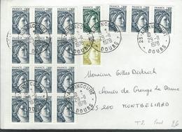 Lettre  Affranchie Avec SABINE Du 29/11/78 - Marcophilie (Lettres)