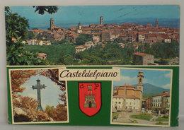 Casteldelpiano Vedute Stemma Araldico Blasone (Grosseto)  Cartolina 1981 - Italia
