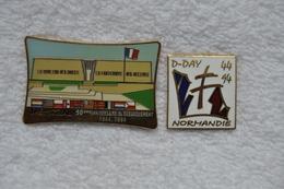Pin's 50 Ième Anniversaire Du Débarquement - Pin's & Anstecknadeln