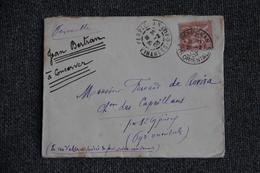 Timbre Seul Sur Lettre PERPIGNAN (66) Vers ST CYPRIEN ( 66) -  N° 125 . - 1877-1920: Semi Modern Period