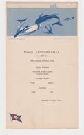 Compagnie Maritime Belge 1934 PAQUEBOT LEOPOLDVILLE Querelle De Requins - Menus