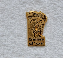 Pin's Cheval Crinière D'or - Animaux