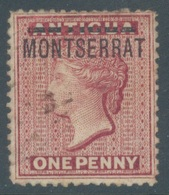 MONTSERRAT - 1876 - USED/OBLIT. - FIRST STAMP -  Yv 1 - Lot 19219 - EXPERT MARK - Montserrat